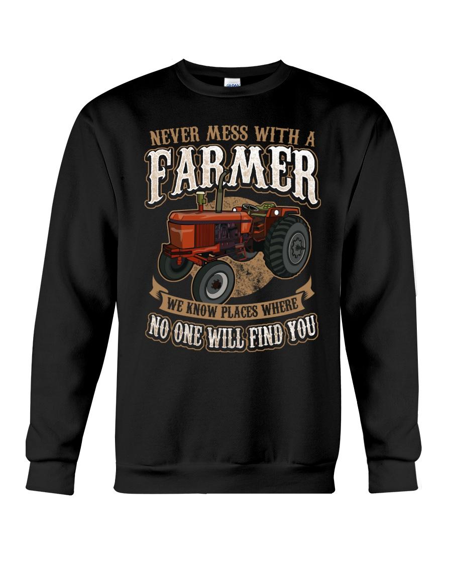 Never Mess With A Farmer Crewneck Sweatshirt