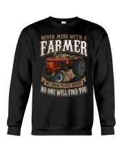 Never Mess With A Farmer Crewneck Sweatshirt front