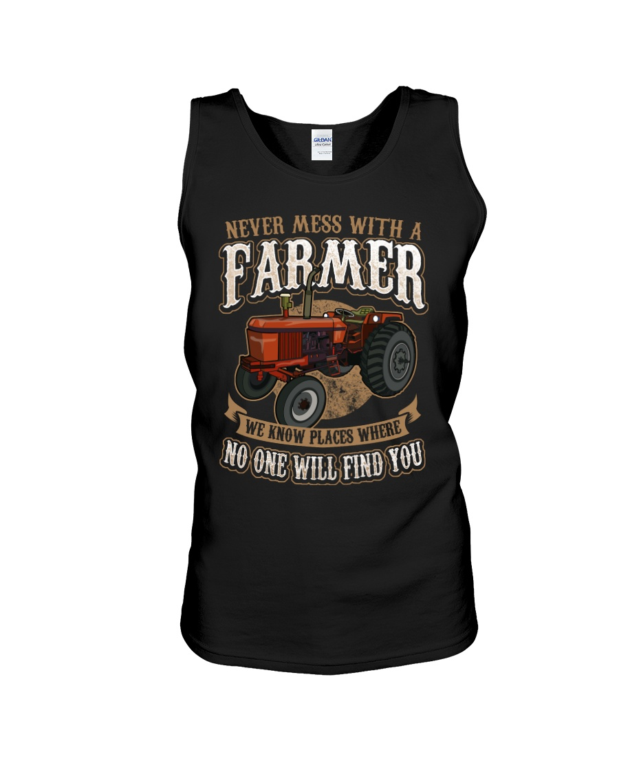 Never Mess With A Farmer Unisex Tank