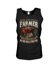 Never Mess With A Farmer Unisex Tank front