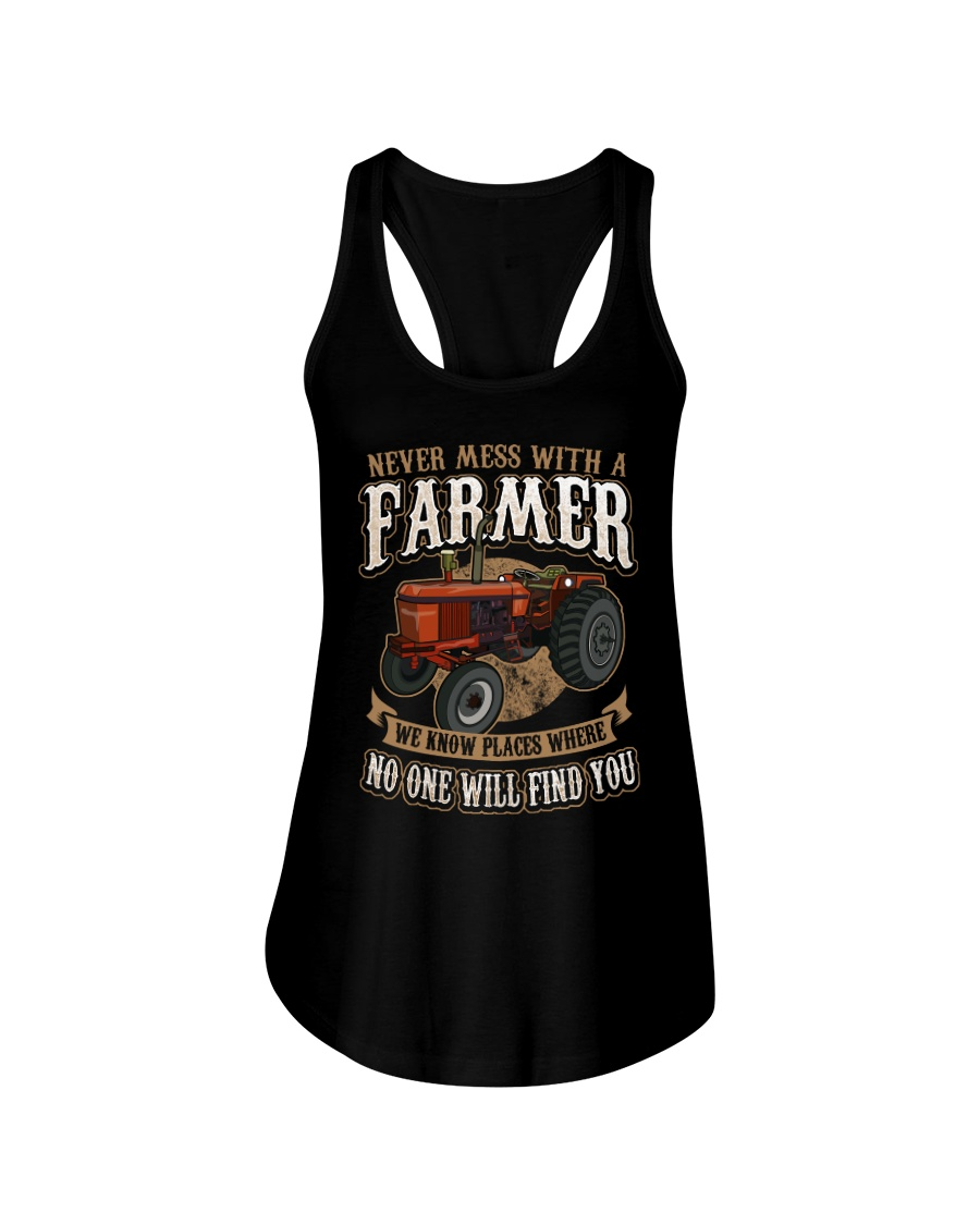Never Mess With A Farmer Ladies Flowy Tank
