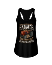 Never Mess With A Farmer Ladies Flowy Tank front