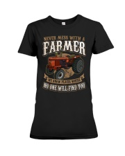 Never Mess With A Farmer Premium Fit Ladies Tee front