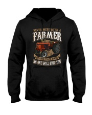 Never Mess With A Farmer Hooded Sweatshirt front