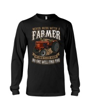 Never Mess With A Farmer Long Sleeve Tee front