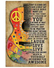 Guitar Today is a good day 11x17 Poster front