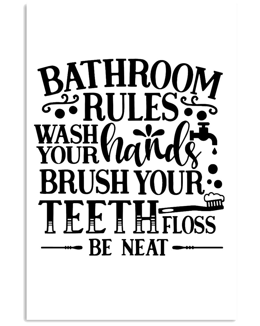 bathroom decor 8 11x17 Poster