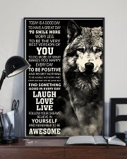 Woft Today is a goodday 11x17 Poster lifestyle-poster-2