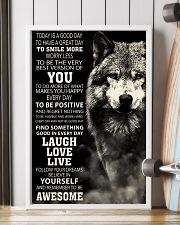 Woft Today is a goodday 11x17 Poster lifestyle-poster-4