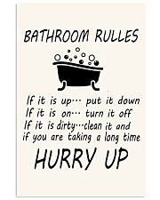 Bathroom rules 11x17 Poster front