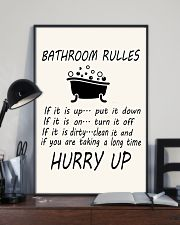 Bathroom rules 11x17 Poster lifestyle-poster-2
