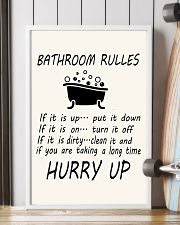Bathroom rules 11x17 Poster lifestyle-poster-4