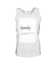 Family Quote Unisex Tank thumbnail