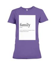 Family Quote Premium Fit Ladies Tee thumbnail