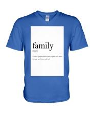 Family Quote V-Neck T-Shirt thumbnail