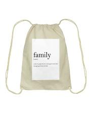Family Quote Drawstring Bag thumbnail