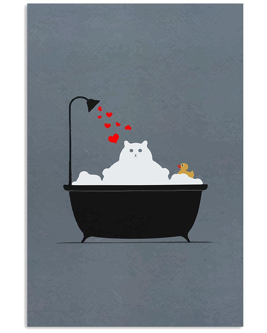 Cat-in-bathroom 11x17 Poster