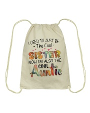 Cool Auntie Drawstring Bag front