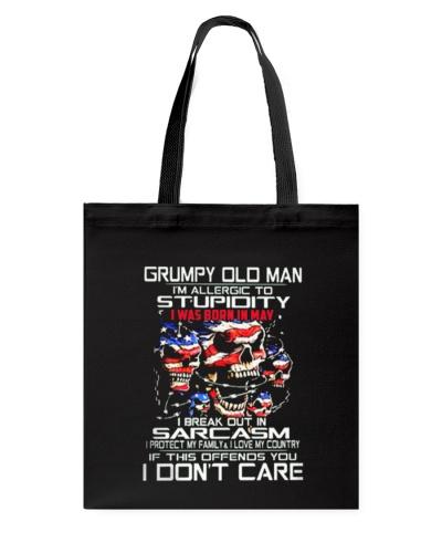 GRUMPY OLD MAN WAS BORN IN MAY T SHIRT