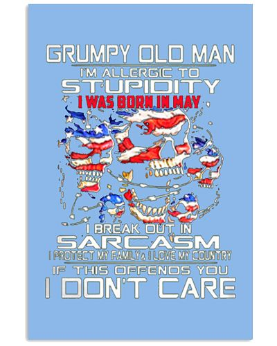 GRUMPY OLD MAN WAS BORN IN MAY T SHIRT