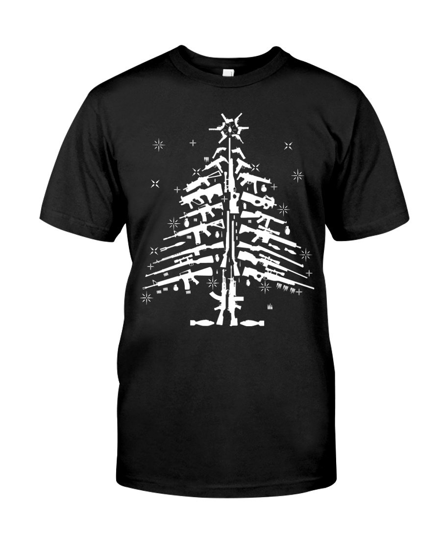 AR15 AR 15 M4 M16 Christmas Tree Assault Rifle Gun Classic T-Shirt