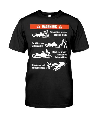 Riding Snowmobile Ride Offroad Funny Warning