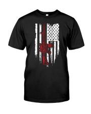 Assault Rifle Gun M4 AR15 AR 15 M16 American Flag Classic T-Shirt front