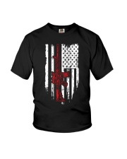Assault Rifle Gun M4 AR15 AR 15 M16 American Flag Youth T-Shirt thumbnail