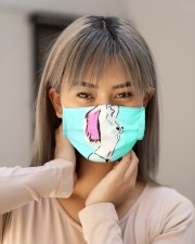 Beautiful woman at the beach  art Cloth face mask aos-face-mask-lifestyle-18