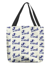 Japanese Wave Pattern - For Japan Lovers All-over Tote thumbnail
