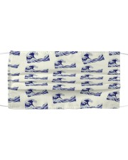 Japanese Wave Pattern - For Japan Lovers Cloth face mask thumbnail