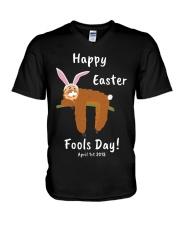 happy-easter-fool-2018-1 V-Neck T-Shirt thumbnail