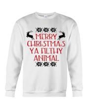 Merry Christmas ya filthy Animal Crewneck Sweatshirt front