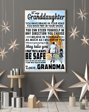 To my Granddaughter - Grandma 11x17 Poster lifestyle-holiday-poster-1