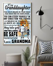 To my Granddaughter - Grandma 11x17 Poster lifestyle-poster-1