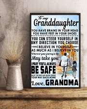 To my Granddaughter - Grandma 11x17 Poster lifestyle-poster-3