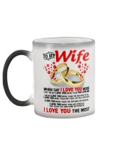 TO MY WIFE - I LOVE YOU THE MOST Color Changing Mug color-changing-left