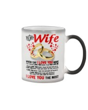 TO MY WIFE - I LOVE YOU THE MOST Color Changing Mug color-changing-right