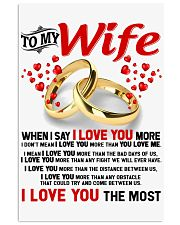 TO MY WIFE - I LOVE YOU THE MOST 11x17 Poster thumbnail
