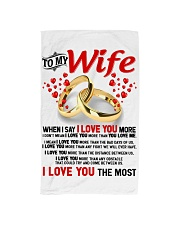 TO MY WIFE - I LOVE YOU THE MOST Hand Towel thumbnail