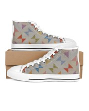 Shoes for Women Love Quilting Sewing Grey Women's High Top White Shoes inside-left-outside-left