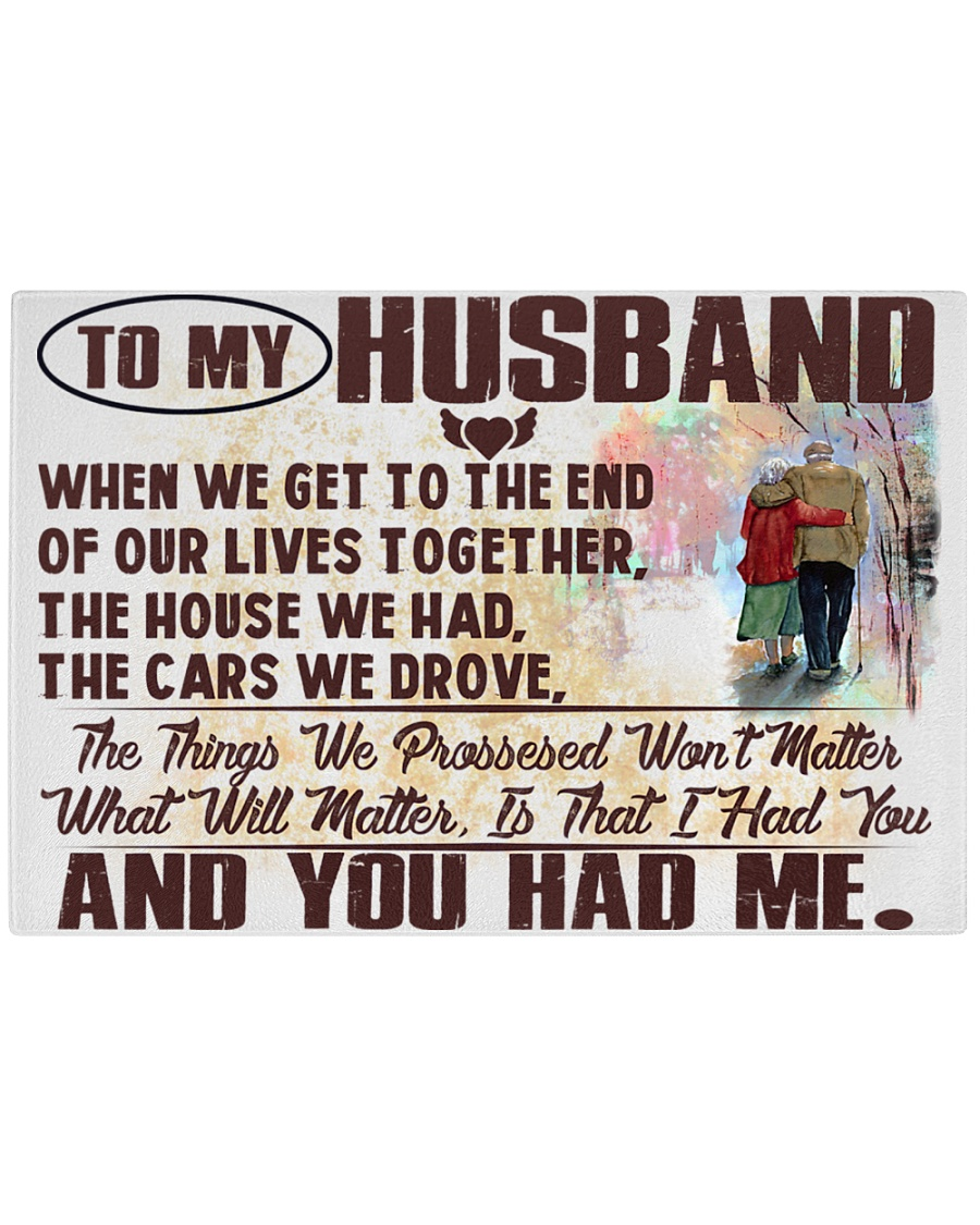To my Husband Rectangle Cutting Board