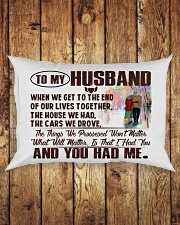 To my Husband Rectangular Pillowcase aos-pillow-rectangle-front-lifestyle-2