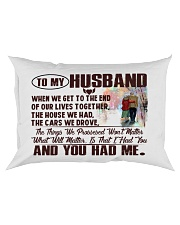 To my Husband Rectangular Pillowcase front