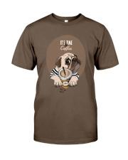 Vêtements Time for coffe pug Classic T-Shirt thumbnail