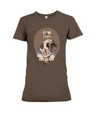 Vêtements Time for coffe pug Premium Fit Ladies Tee thumbnail