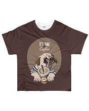 Vêtements Time for coffe pug All-over T-Shirt front