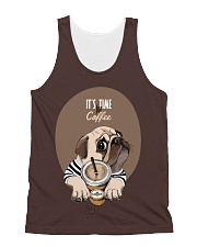 Vêtements Time for coffe pug All-over Unisex Tank thumbnail