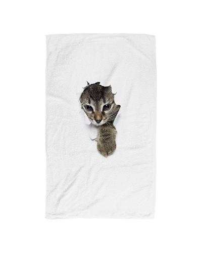3D Cat  hand towels Cheap Rate