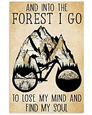 Into The Forest I Lose My Mind Cycling 11x17 Poster front